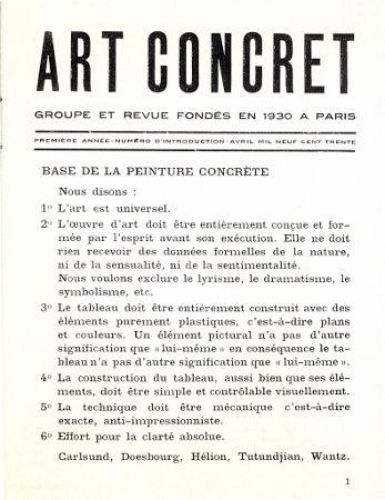 Acima, um recorte de jornal com o manifesto da arte concreta, de 1930