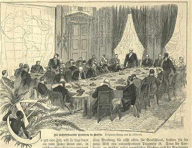 A Conferência de Berlim (1884-1885) tratou de delimitar as regiões de posse dos europeus no contexto da expansão imperialista