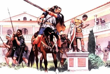 Os povos germânicos dominaram o Antigo Império Romano.