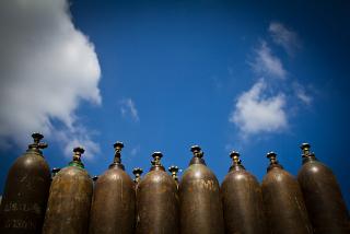 O ar e esses cilindros contêm misturas gasosas
