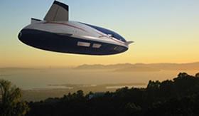Balão dirigível moderno.