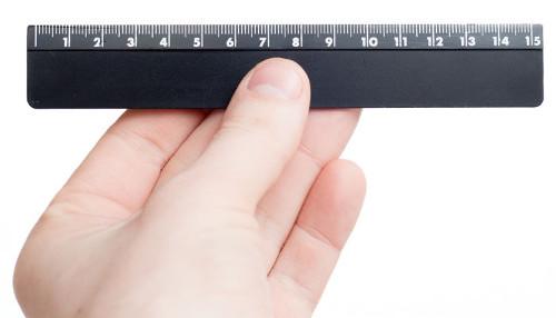 A régua é um exemplo de reta numérica usada para medir pequenas distâncias