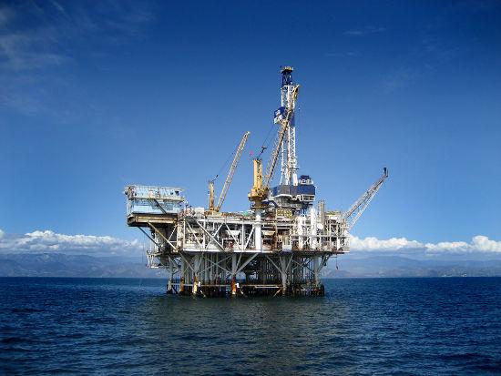 Plataforma de extração de petróleo e gás natural