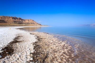 Imagem da costa do Mar Morto
