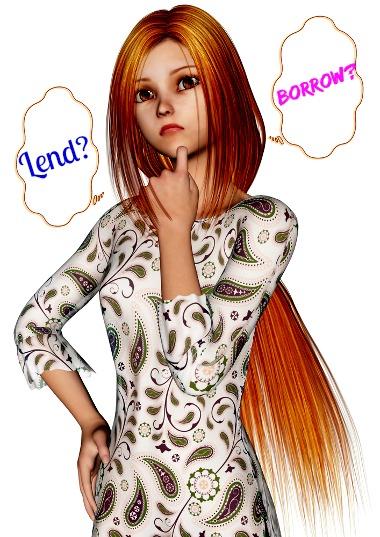"""""""Lend"""" significa emprestar e """"Borrow"""" significa pegar emprestado"""