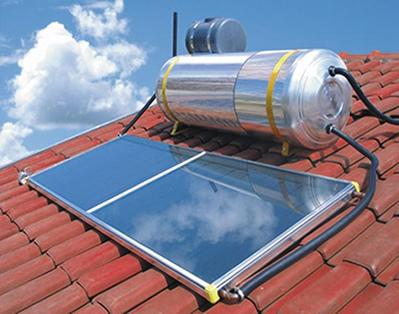 Aquecedor solar com um reservatório de capacidade de 200 litros