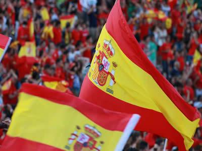 Bandeira espanhola. O povo da Península Ibérica representou o terceiro maior grupo de imigrantes que veio para o Brasil