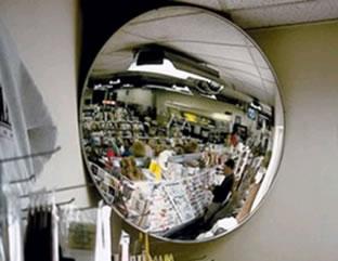 Espelho esférico do tipo convexo