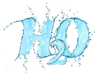 A fórmula química da água é H2O