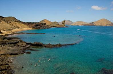 O Arquipélago de Galápagos tem uma extensão de 8.010 km2