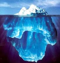Água no estado sólido e no estado líquido