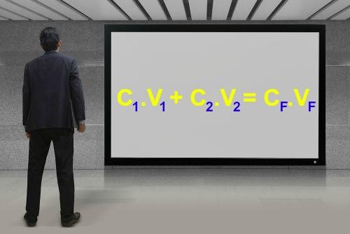Fórmula para o cálculo de concentração em mistura de soluções de mesmo soluto
