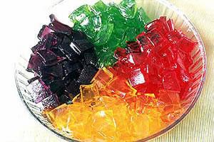Gelatina alimentar aromatizada
