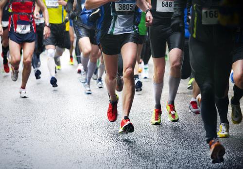 Corrida: umas das modalidades do atletismo.