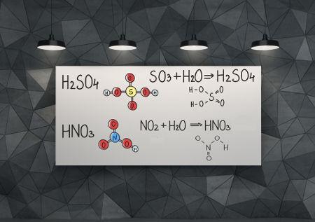 Ácidos inorgânicos podem ser obtidos a partir de reações com óxidos