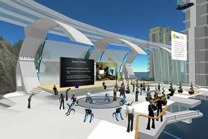 Screenshot do ambiente virtual Second Life.