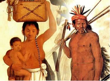 Algumas representações do índio produzidas pelo artista holandês Albert Eckhout.