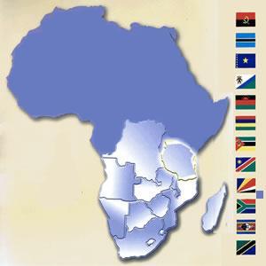 Países que fazem parte da SADC