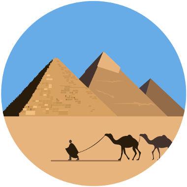As pirâmides mais conhecidas são as de base quadrada