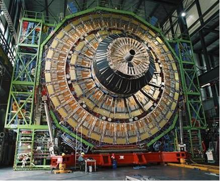 Imagem do LHC, o maior acelerador de partículas do mundo