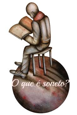 O soneto é uma forma fixa composta por quatro estrofes: dois quartetos e dois tercetos