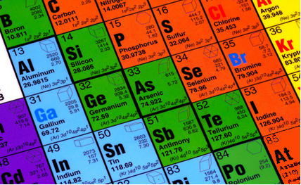 Os elementos destacados em verde são os semimetais na Tabela Periódica