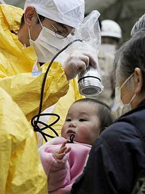 Descontaminação de pessoas que entram em contato com a radioatividade