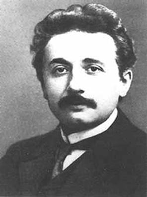Einstein em uma foto quando estava começando a ficar conhecido