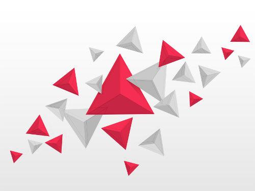 Exemplos de triângulos equiláteros formados por outros três triângulos congruentes obtusângulos