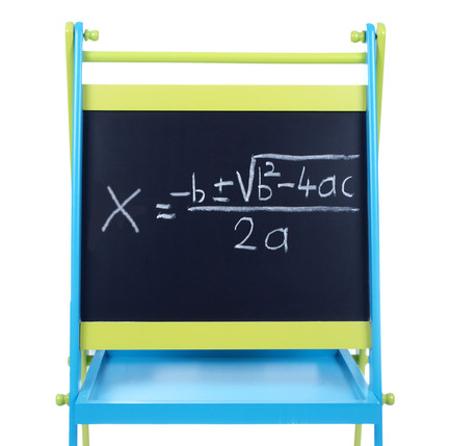 Representação da fórmula de Bhaskara como é ensinada do ensino fundamental