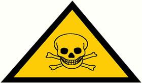 Atenção para esse símbolo em produtos de limpeza.