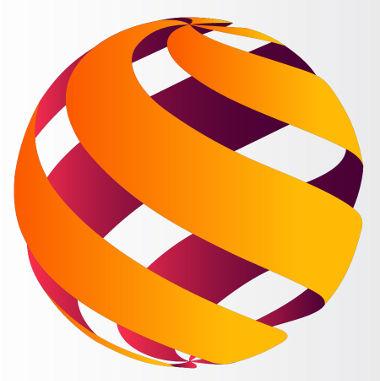 Esquema que ilustra a superfície de uma esfera