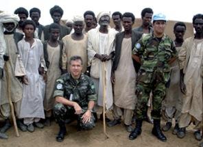 Soldados da ONU em missão de paz