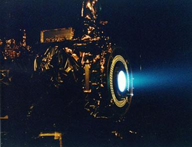 Protótipo de um motor de íons.