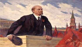 Lênin, principal líder da revolução bolchevique.