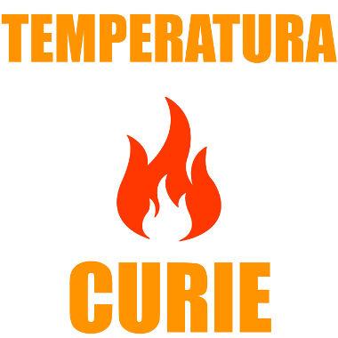 Trata-se da temperatura na qual um material ferromagnético perde suas propriedades magnéticas