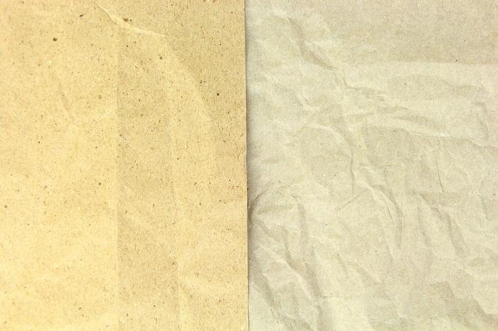 Exemplo de um papel que passou pelo processo de reciclagem