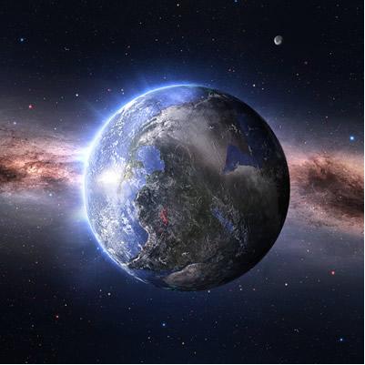 Usa-se o decaimento radioativo para se determinar a idade aproximada da Terra