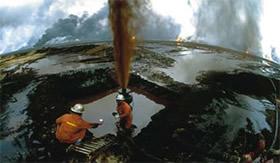 Imagem que ilustra a pressão nas jazidas de petróleo.