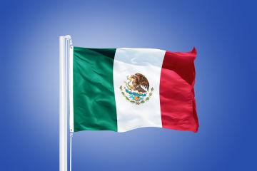 As cores da bandeira mexicana foram adotadas logo após a independência do país. Elas representam a esperança, unidade e o sangue dos heróis nacionais