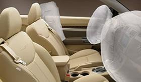 Airbags à base de reações químicas.