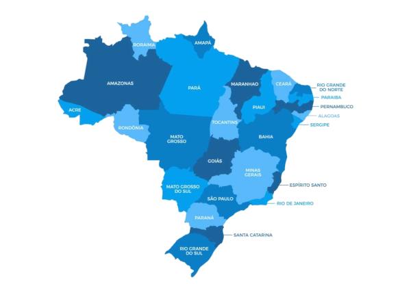 O mapa político do Brasil representa as unidades federativas que compõem o território brasileiro.
