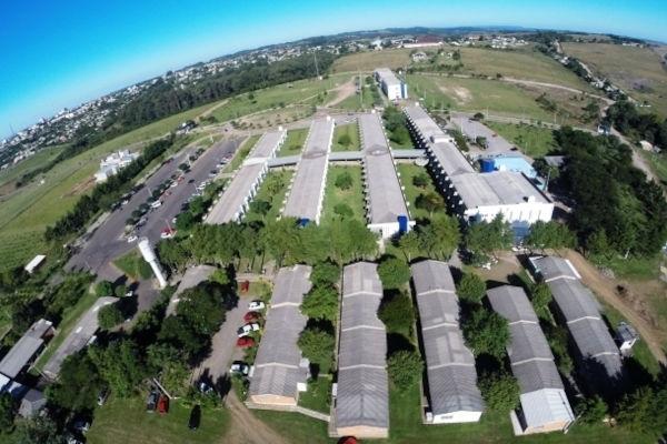 Imagem do campus Santiago da URI, no Rio Grande do Sul