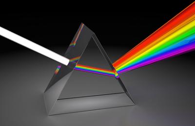 A dispersão da luz em um prisma é um fenômeno óptico que pode ser tema de questões no Enem