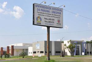 A sede da reitoria da Unespar fica no campus de Paranavaí