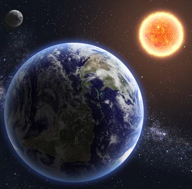 A teoria da gravitação universal explica por que a Terra gira em torno do Sol e a Lua ao redor da Terra