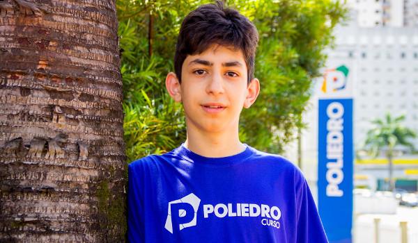 Bernardo é superdotado e pulou duas séries do ensino fundamental