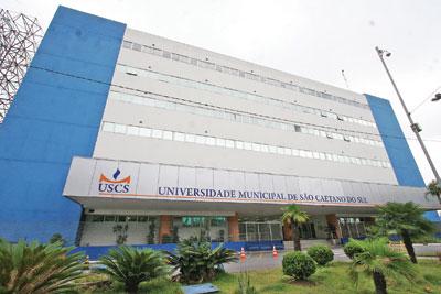 Fachada do Campus Centro da USCS