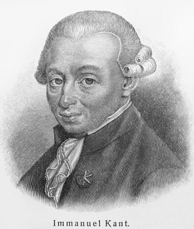 Filósofo Immanuel Kant, representante do Iluminismo Alemão