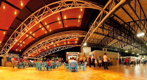Área de convivência do campus em Santa Cruz do Sul